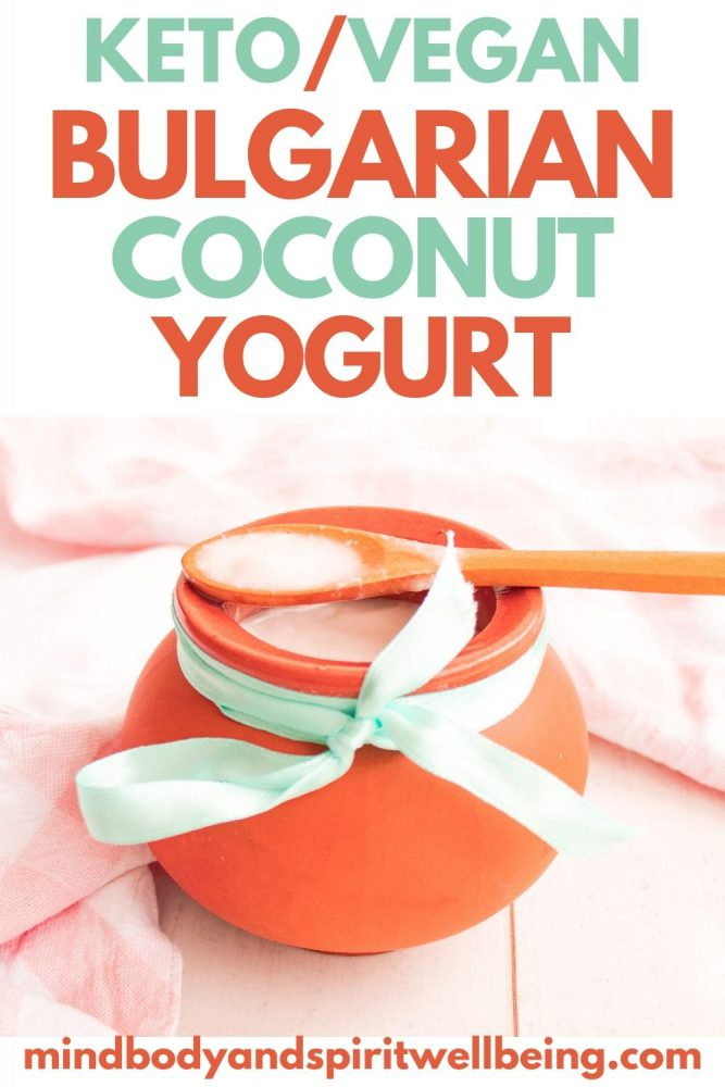 Traditional Bulgarian Coconut Yogurt, Lactose Free Coconut Sour Cream